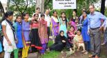 Tree plantation by YCMOU  of kamala college