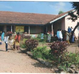 "NSS Activity ""Cleaning of School in Rural Area"""