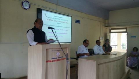 Dr. D. R. More addressing  in  Seminar on New Maharashtra Public university Act