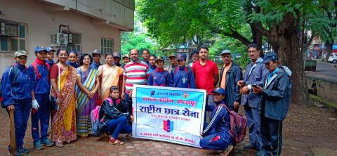 Participation inClean campaign on 14 July