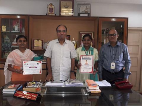 Prizes in state level elucation competition