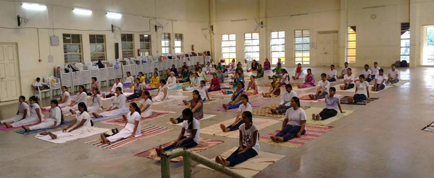 Celebration of international Yoga Day in V. T. Patil Smriti Bhavan
