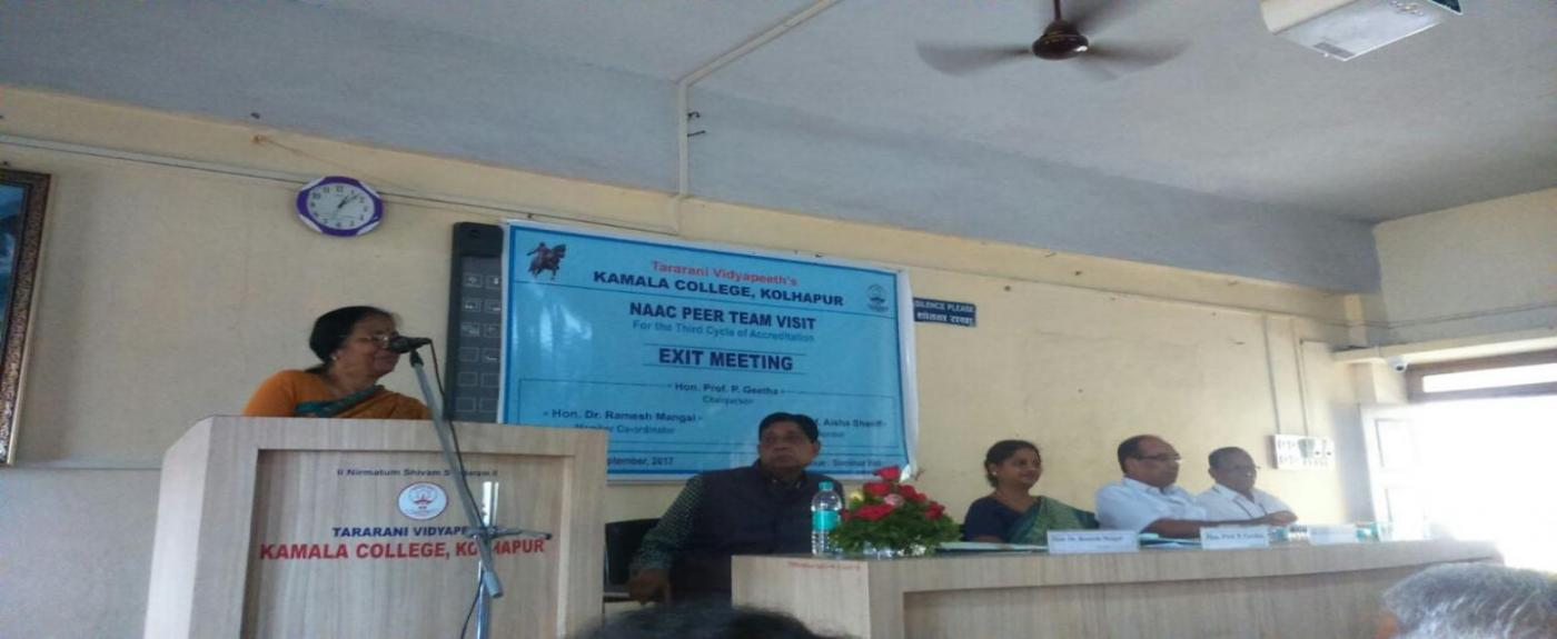 Prof. P. Geeta addressing in Exit meeting